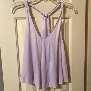 Lavender free people tank top